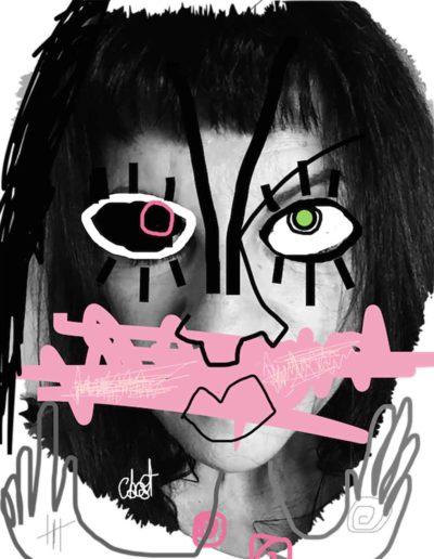 CBost - Photo dessin - Autoportrait - Muette