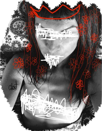 CBost - Photo dessin - Autoportrait - Reine