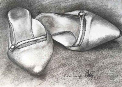 CBost - Dessin crayon sur Canson - Chaussures - 01