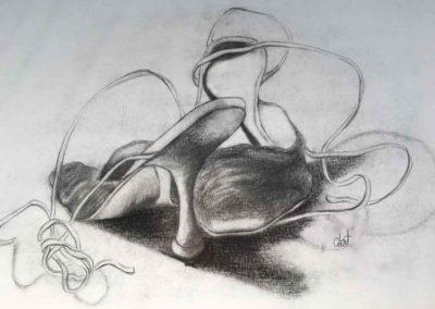 CBost - Dessin crayon sur Canson - Chaussures - 02