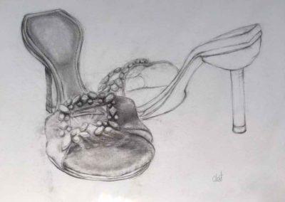 CBost - Dessin crayon sur Canson - Chaussures - 06