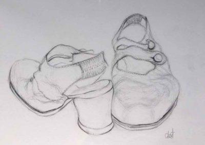 CBost - Dessin crayon sur Canson - Chaussures - 07