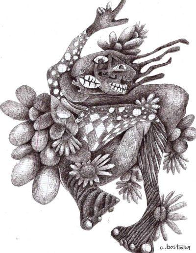 CBost- Dessin encre de Chine sur Canson - Sans titre 05