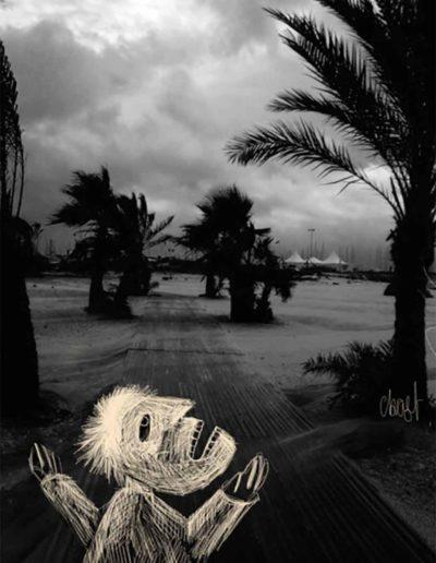 CBost - Photo dessin - La Grande Motte - Noir et Blanc - 02