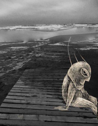 CBost - Photo dessin - La Grande Motte - Noir et Blanc - 03
