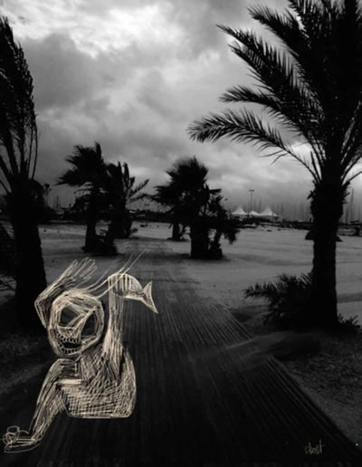 CBost - Photo dessin - La Grande Motte - Noir et Blanc - 04