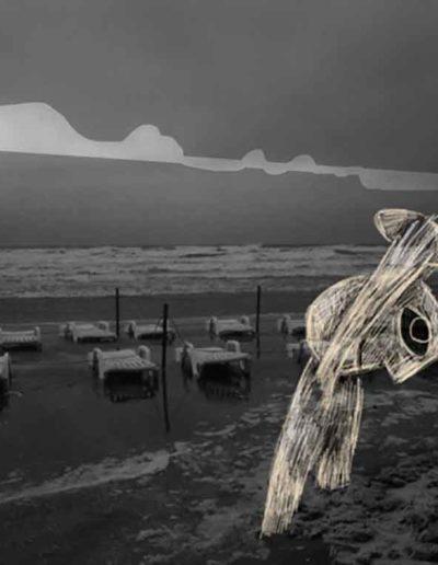 CBost - Photo dessin - La Grande Motte - Noir et Blanc - 06