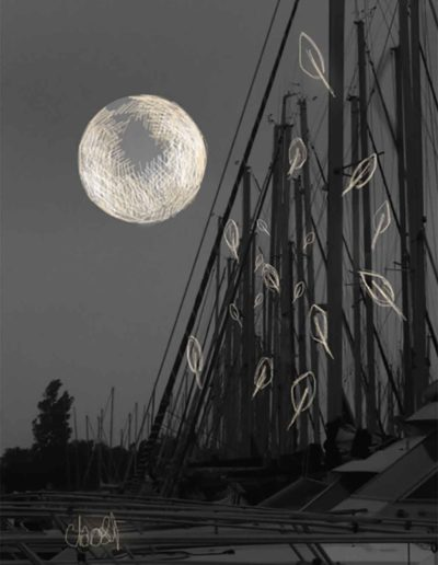 CBost - Photo dessin - La Grande Motte - Noir et Blanc - 08