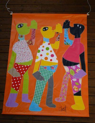 CBost - Le Chant des Hommes - bâche aplat de Kouture - orange
