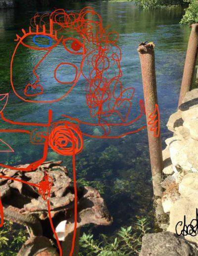 CBost - Photo dessin - Sorgues - Baigneuse au poisson